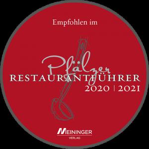 Empfohlen im Pfälzer Restaurantführer